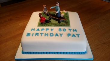 50th birthday chocolate cake