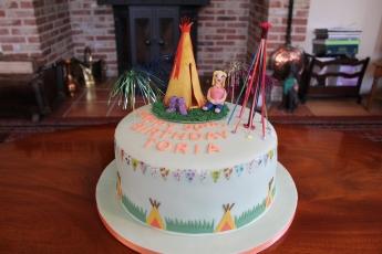 Festival themed carrot cake