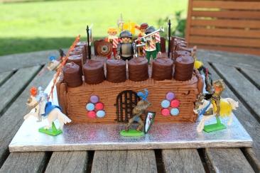 Castle themed birthday cake