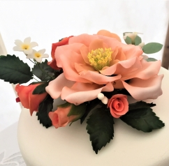 rose pastel sugar flowers