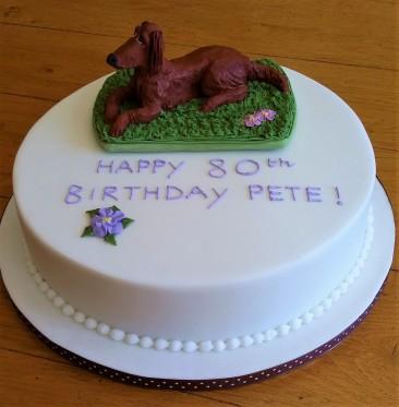 Dog-themed birthday cake