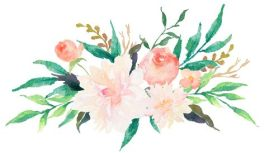 Banner - watercolour flowers