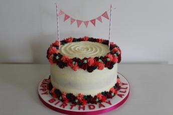 Buttercream flowered carrot cake