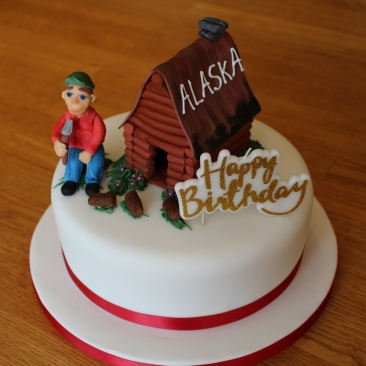 Rich fruit cake with marzipan & fondant icing