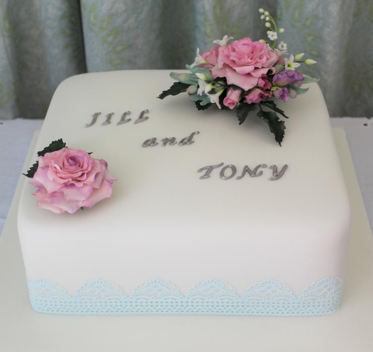 pastel themed rich fruit cake