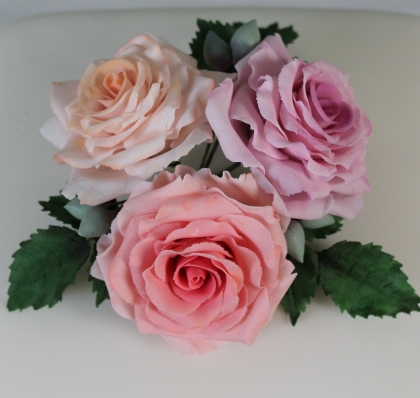 Pastel sugar roses
